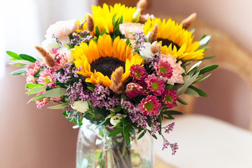 curiosità sui girasoli bouquet