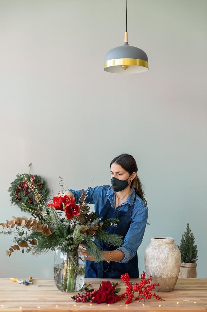 seconda vita al bouquet di Natale