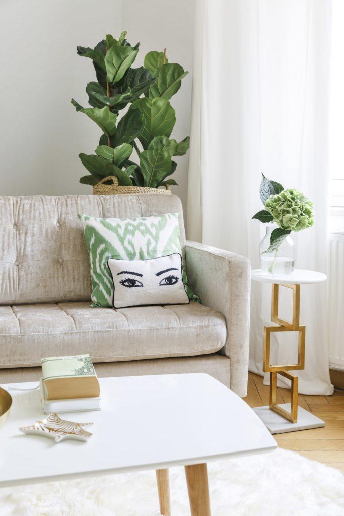 arredare soggiorno piante