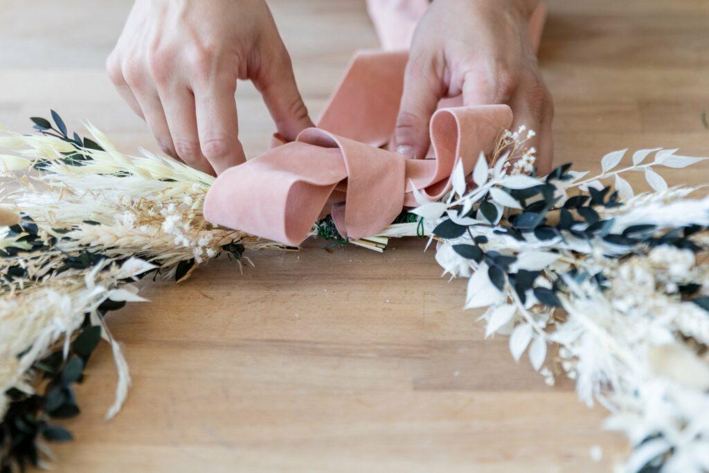 decorare con fiori secchi