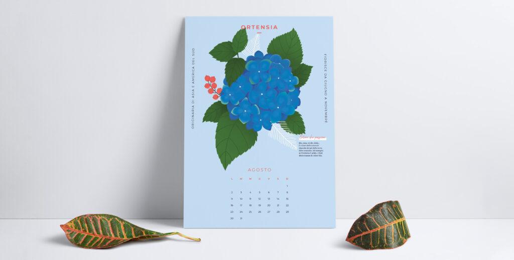 Inizia agosto con un'esplosione di colore e scarica il calendario del mese