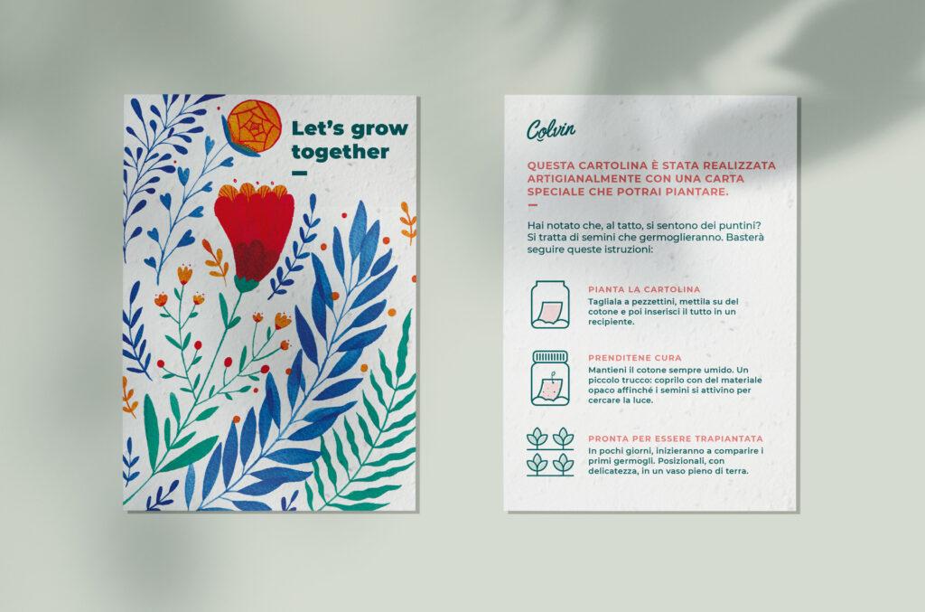 Crea la vita con il nostro biglietto di auguri su carta piantabile che germoglia