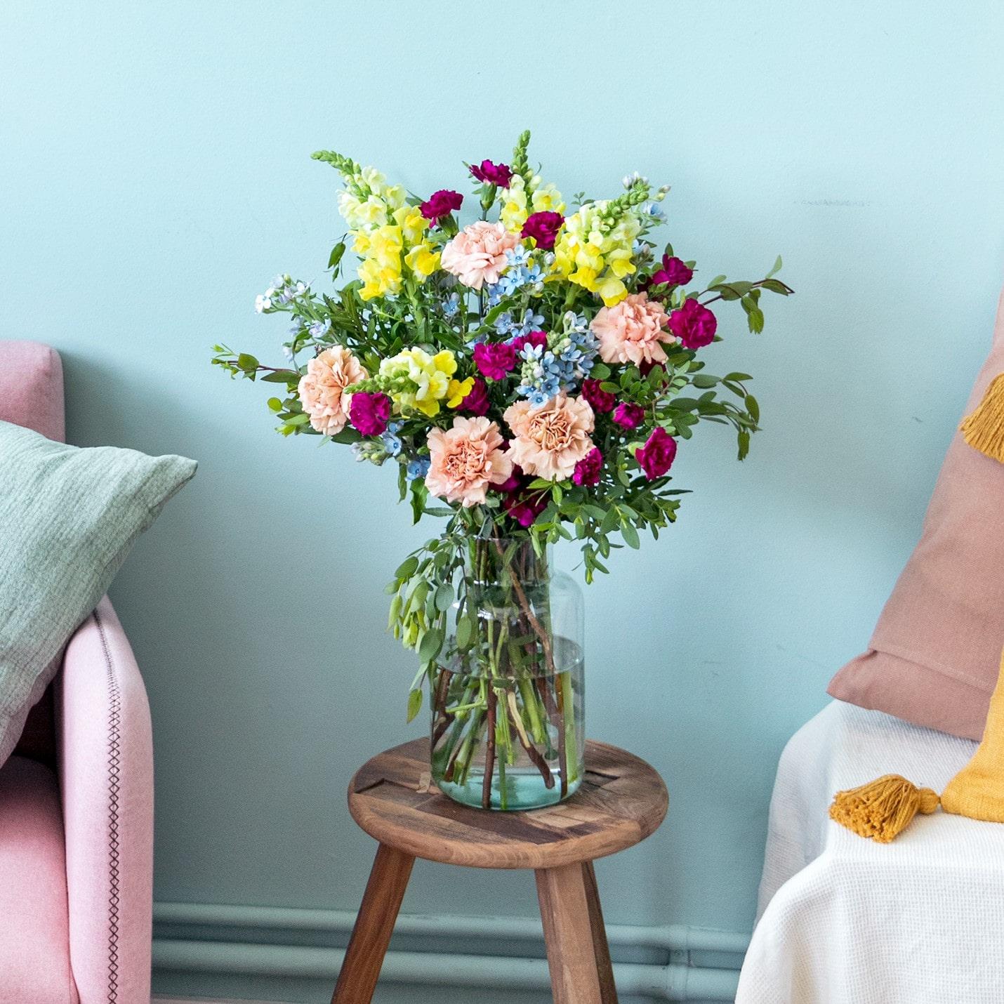 vaso fiori vetro