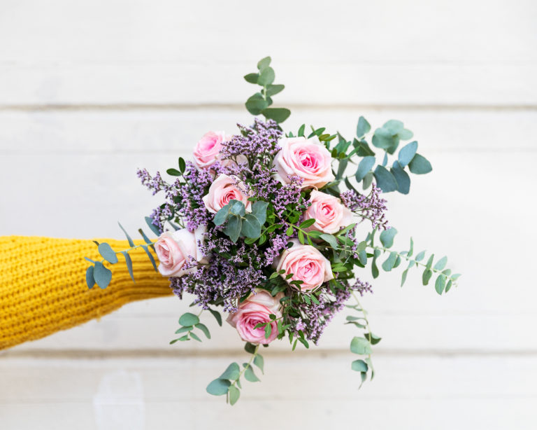 Bouquet di fiori con le rose