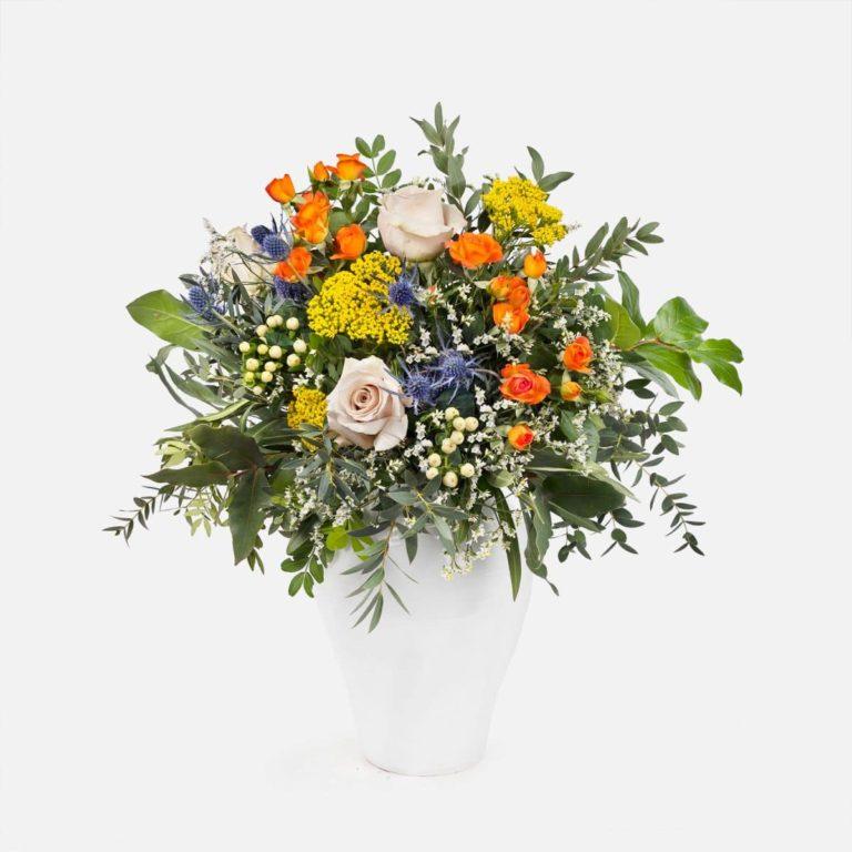 bouquet con rose arancioni