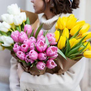 Bouquets di tuliani colorati