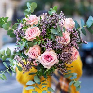 Ramo de rosas cor-de-rosa